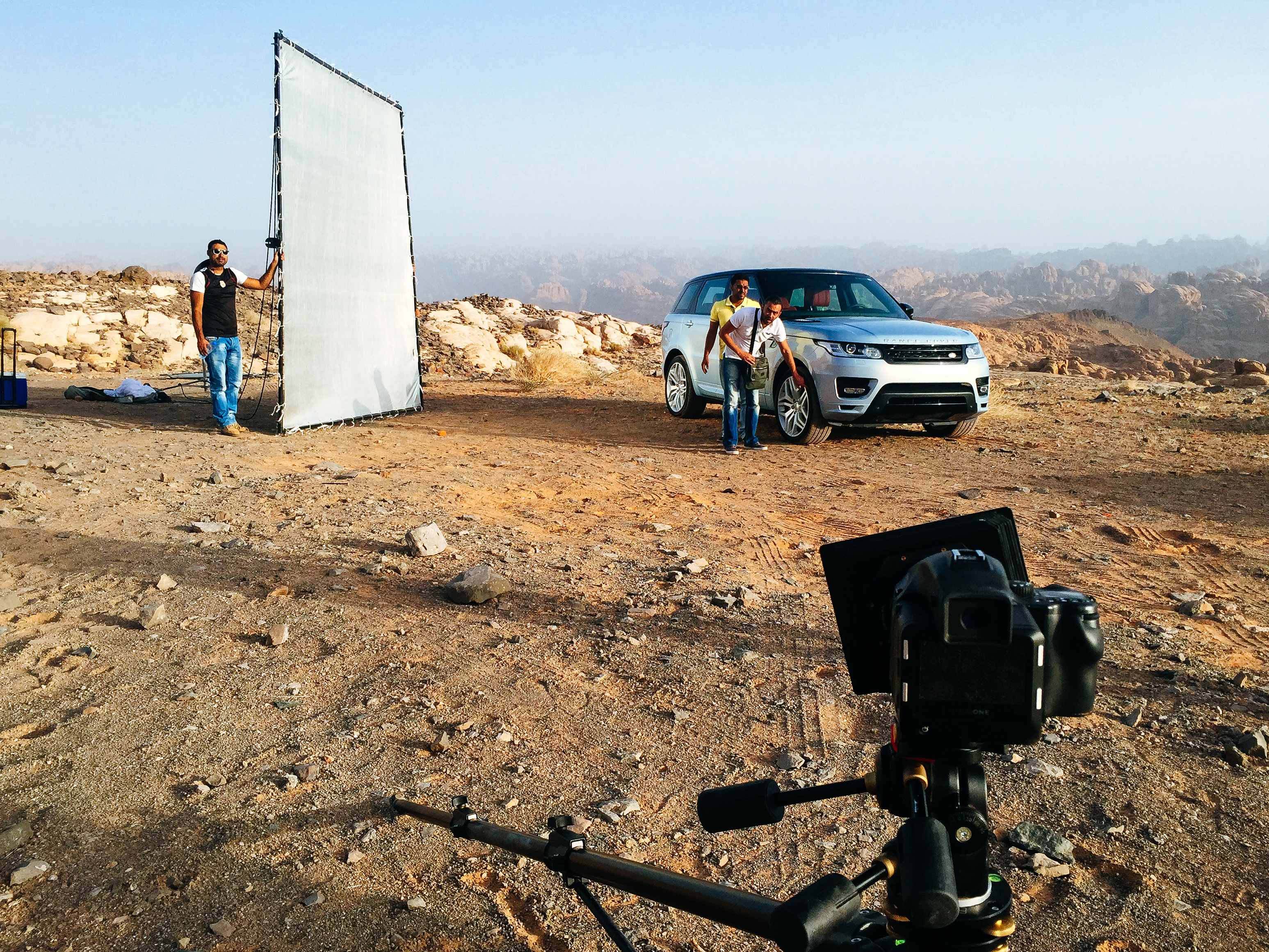 Behind the scenes shooting land rovers in the middle east - Dom romney